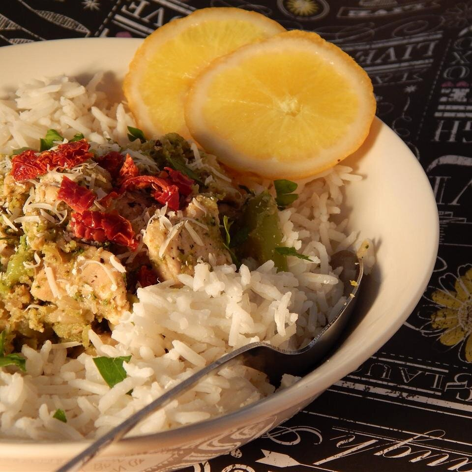 lemon parmesan chicken and rice bowl recipe