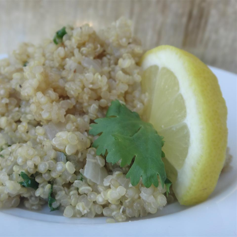 Quinoa and Spinach Pilaf