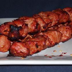 Fiery Pork Skewers