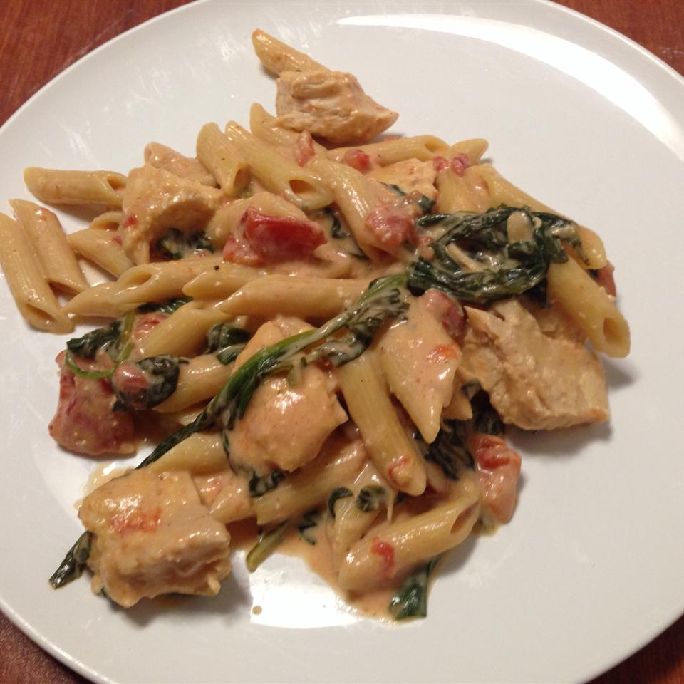 Penne Rosa with Parmesan Crusted Chicken