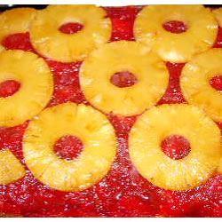 Rhubarb Pineapple Upside-Down Cake Laura