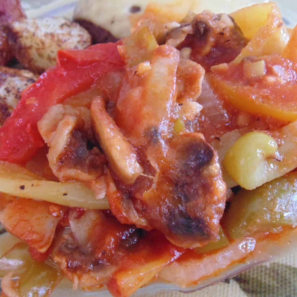 J.W.'s Pepper and Mozzarella Casserole