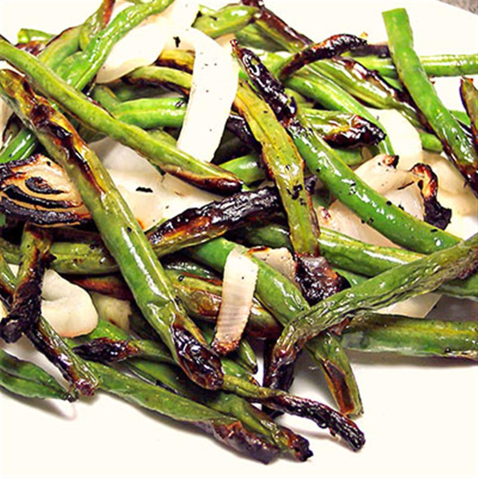 Grilled Green Beans and Onions Trusted Brands