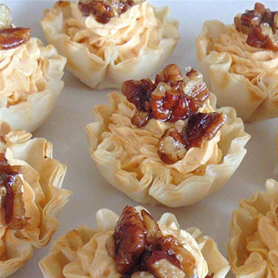 Pumpkin Cheese Tarts with Pecans and Cinnamon Sea Salt Trusted Brands