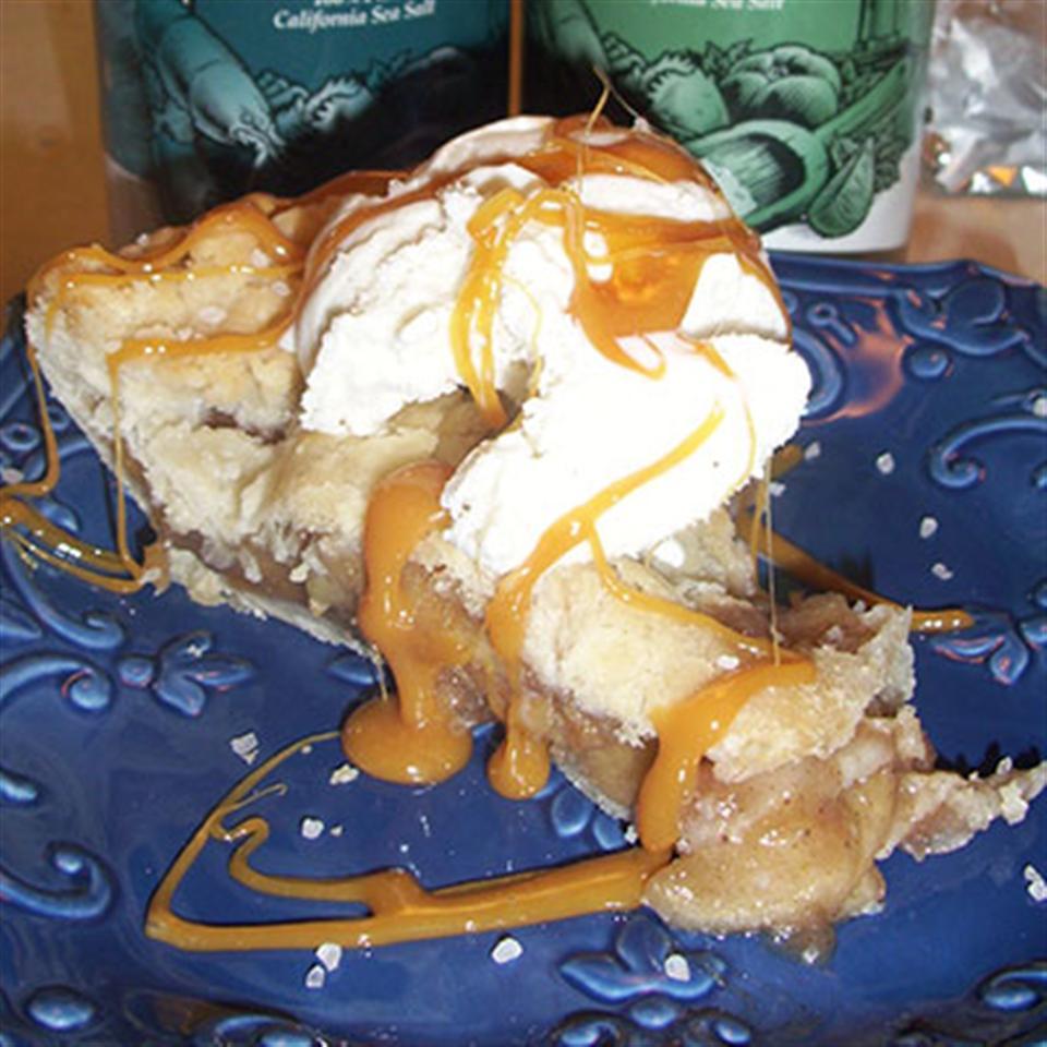 Salted Caramel Apple Pie a la Mode