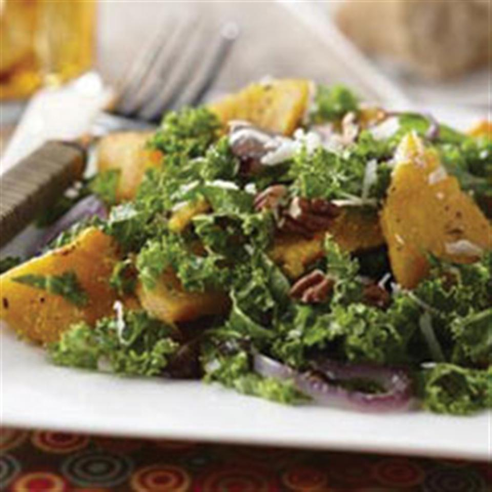 Autumn Butternut and Kale Salad with Maple Vinaigrette Trusted Brands