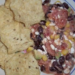 Cottage Cheese, Avocado, and Black Bean Salsa bellydancer
