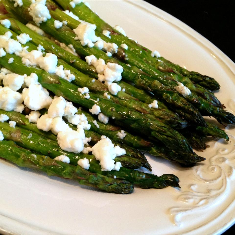 Roasted Asparagus with Herb Goat Cheese
