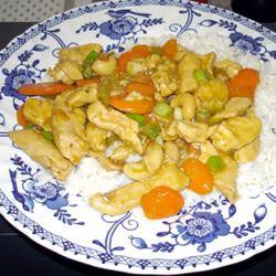 Chicken Honey Nut Stir Fry
