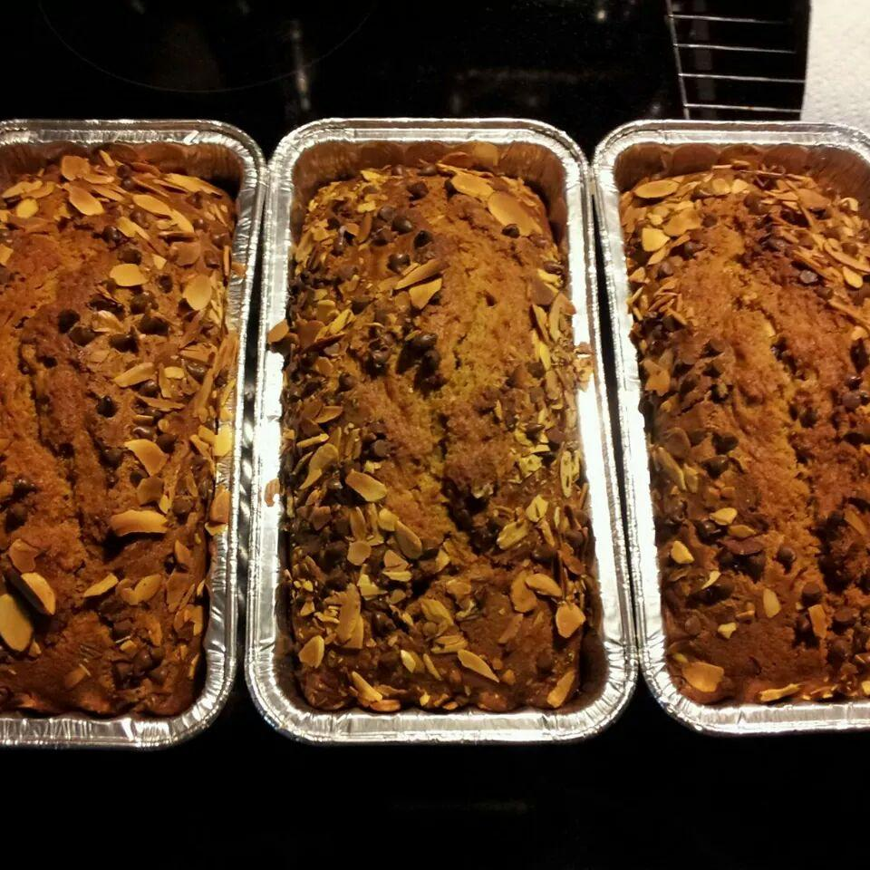 Almond Chocolate Chip Pumpkin Bread