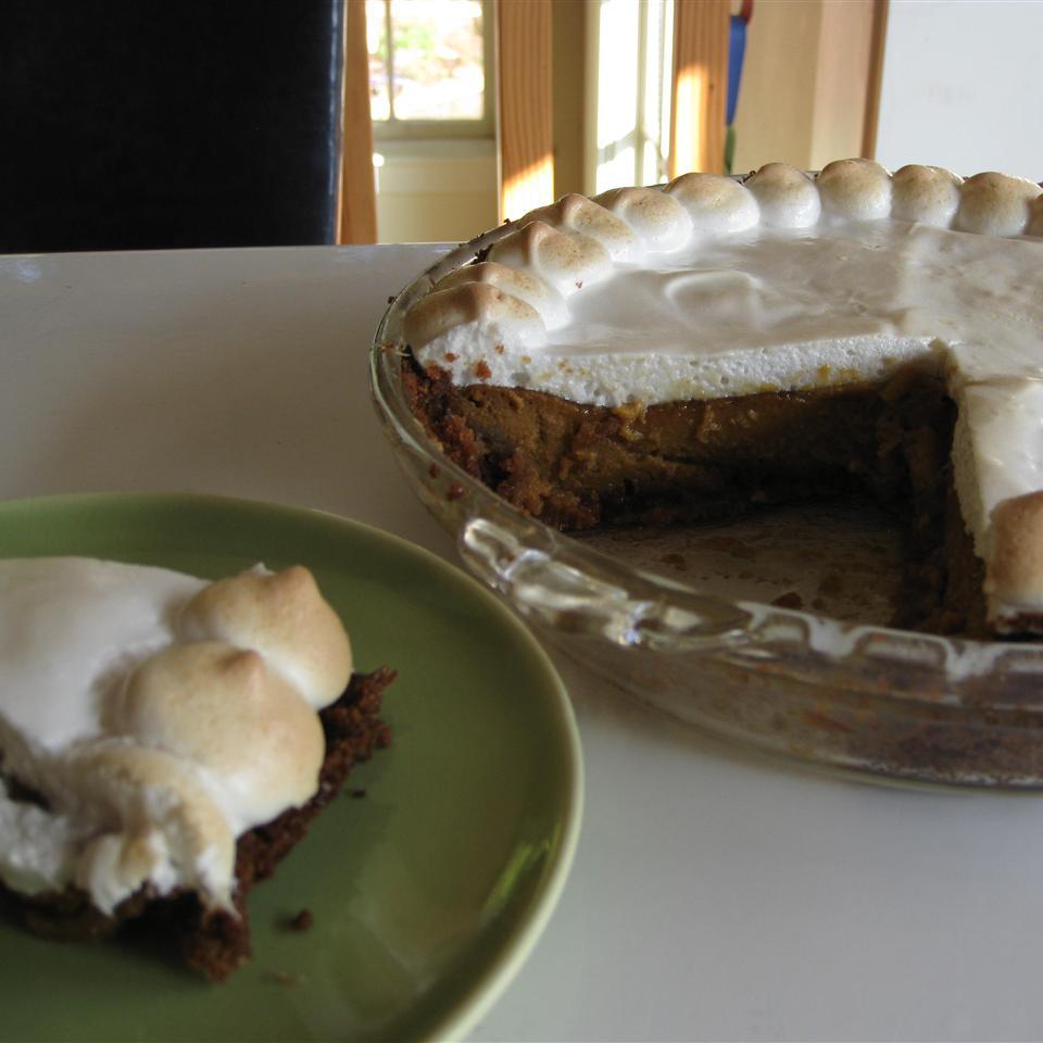 Sweet Potato Pie with Marshmallow Meringue Topping Gremolata