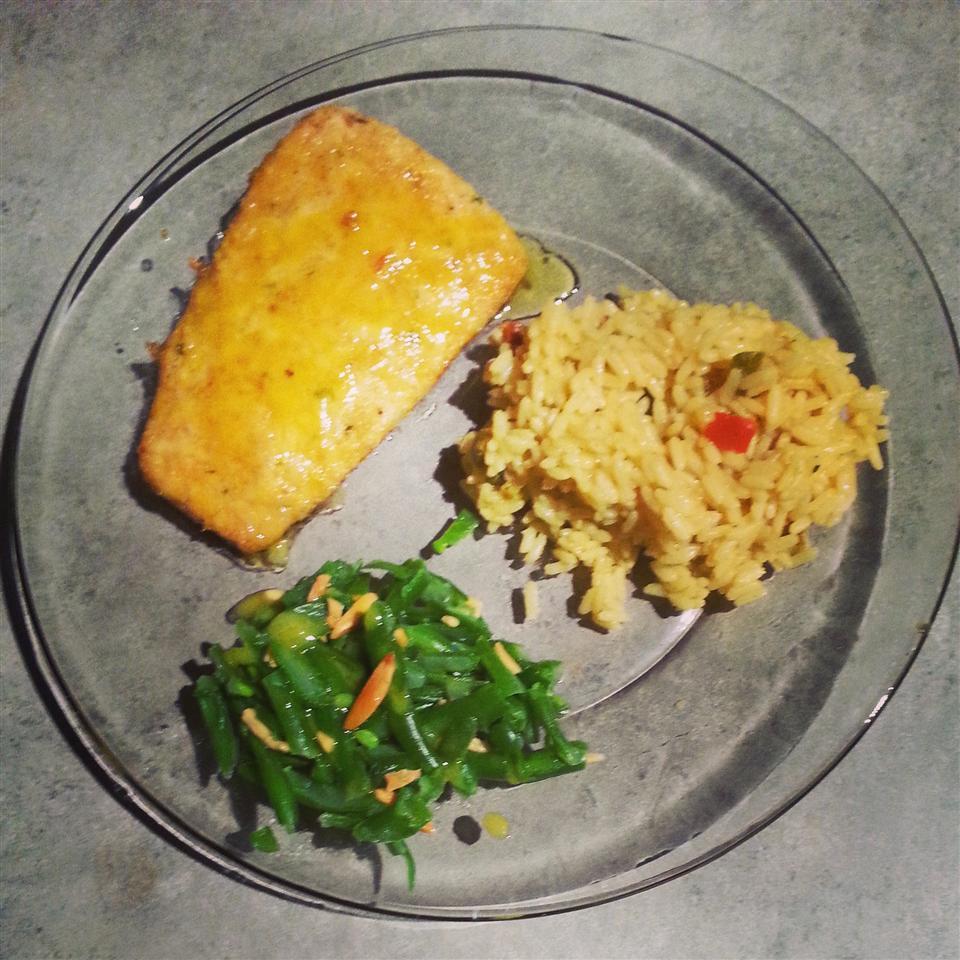 Crusted Salmon with Honey-Mustard Sauce Sabrina Smith Rangel