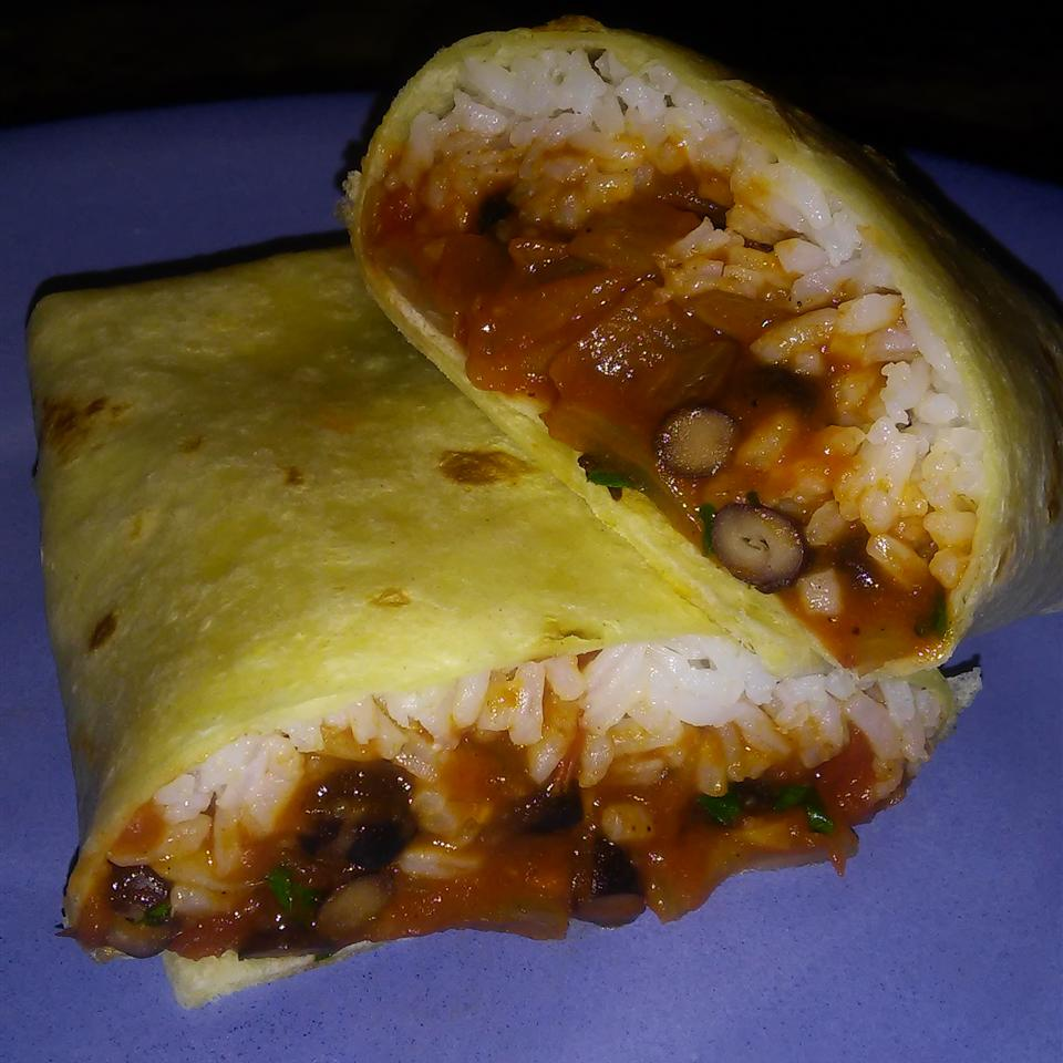 Black Bean and Rice Burritos Melody Sahin