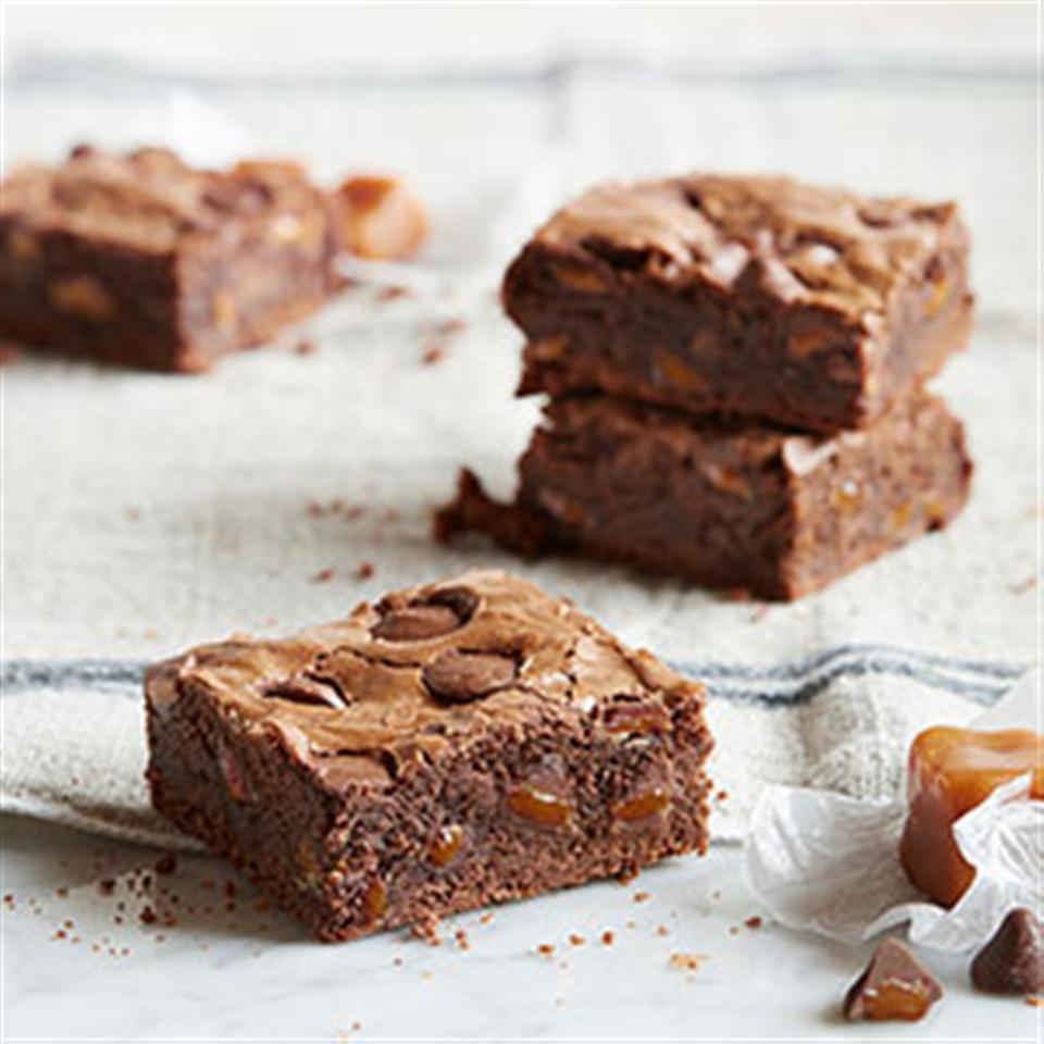 Dark Chocolate Brownies with Caramel Filled DelightFulls™ Trusted Brands