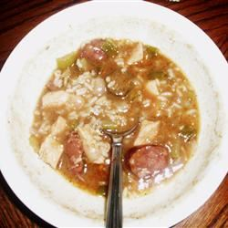 Cajun Chicken and Sausage Gumbo Andrea1023