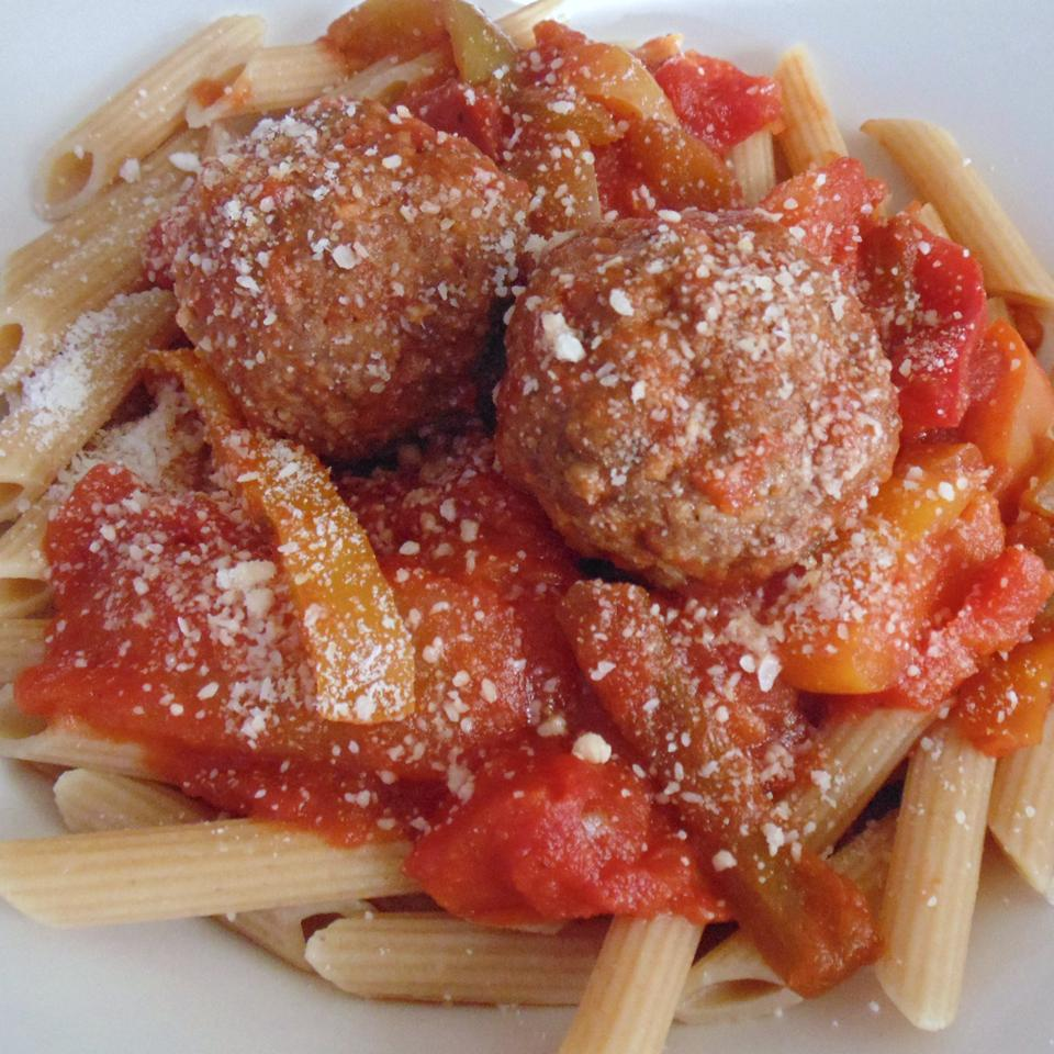 Italian Meatballs and Peppers by PAM® Christina
