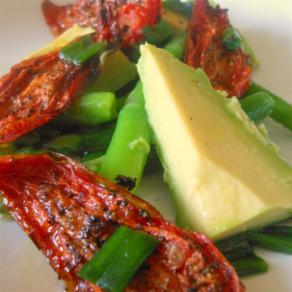 Asparagus, Avocado and Slow-Roasted Tomato Salad