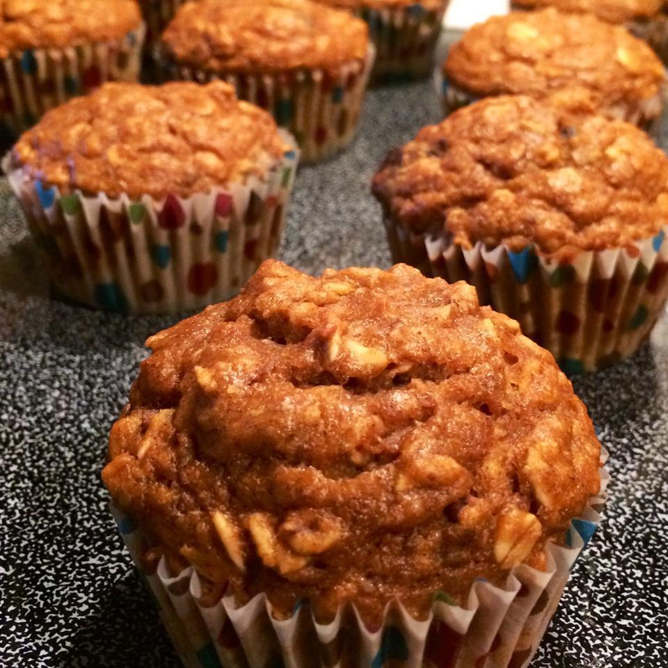 October Oatmeal Pumpkin Muffins