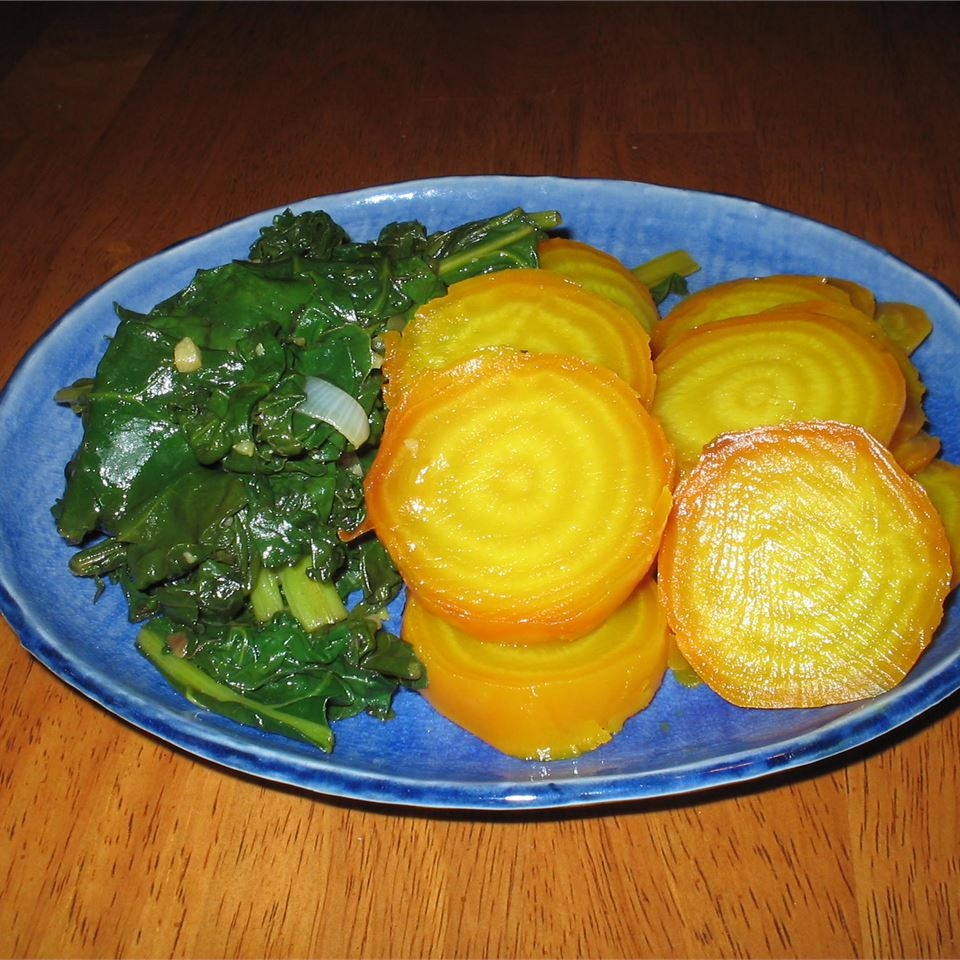 Roasted Beets and Sauteed Beet Greens N.O.