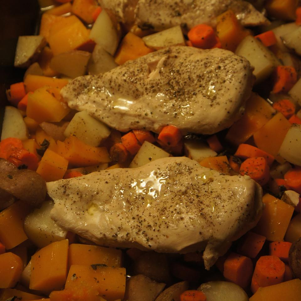 'Welcome Fall' Roasted Chicken and Butternut Squash Megan Ann