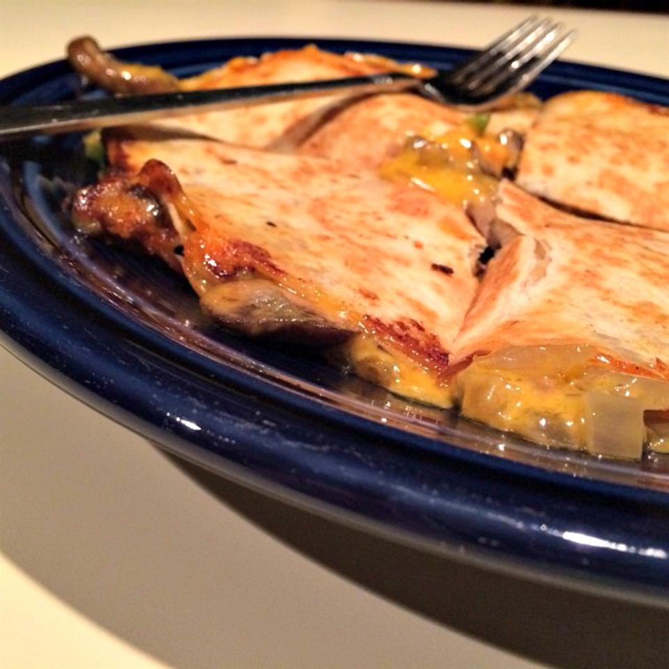 Caramelized Onion and Jalapeno Quesadillas