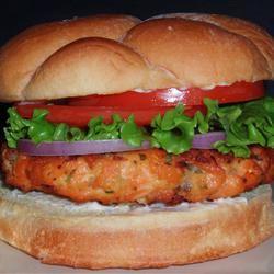 Salmon Rosemary Burgers Angela F.