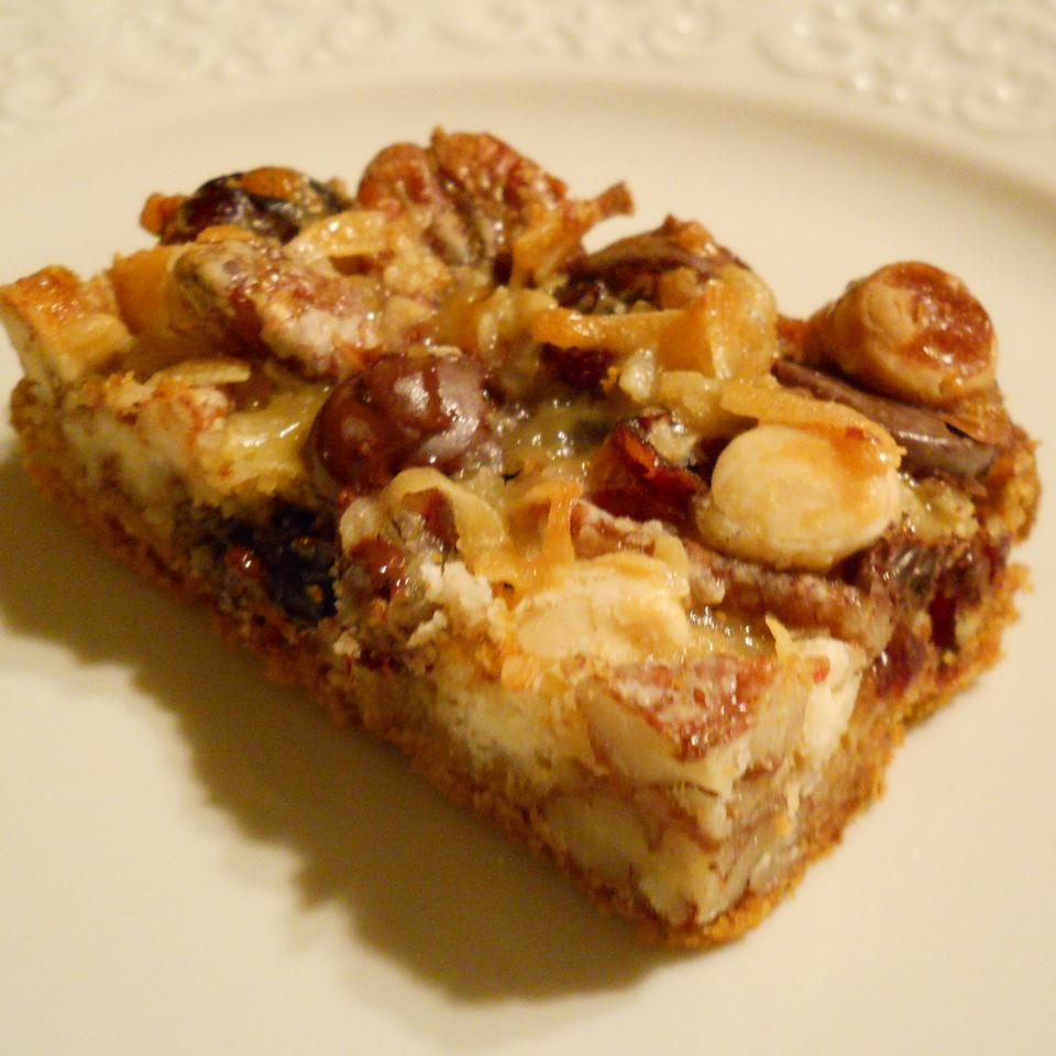 Coconut-Cranberry Bars with Pecans