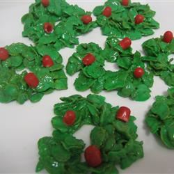 Holly Christmas Cookies pinksnowflakeliz