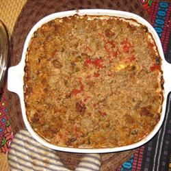 Spicy Sausage and Rice Casserole awaymire