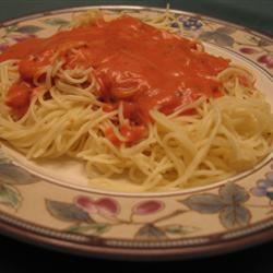 Pasta with Tomato Cream Sauce KitchenWitch