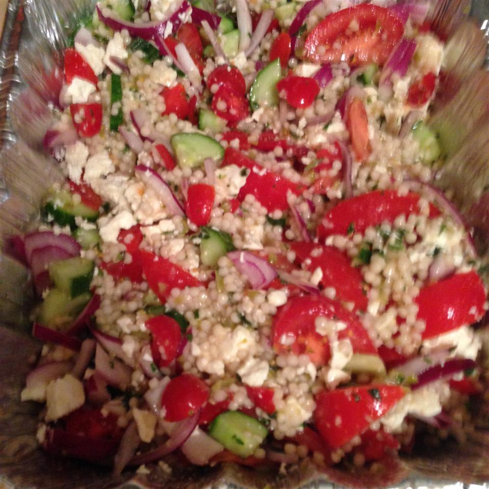 Heirloom Tomato Salad with Pearl Couscous