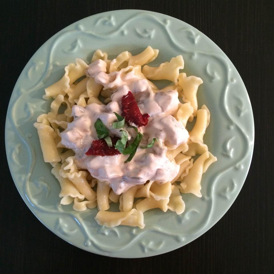 Creamy Eggplant Campanelle
