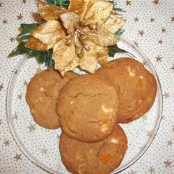 Apricot and White Chip Cookies with Almonds Mallinda