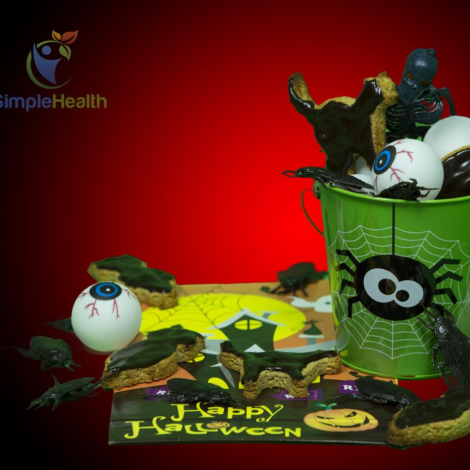 Halloween Vegan Yacon Syrup Cookies