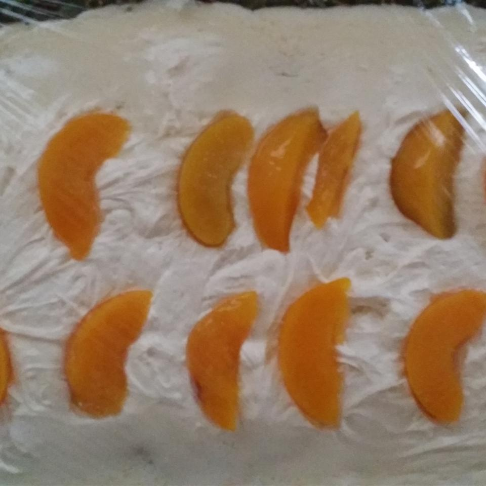 Peach Filled Cake Carol