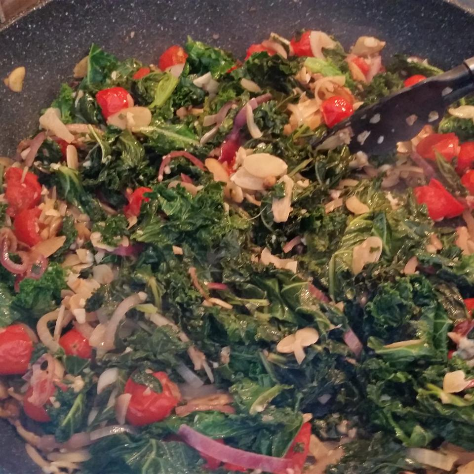 Kale with Pine Nuts and Shredded Parmesan Raquel Teixeira