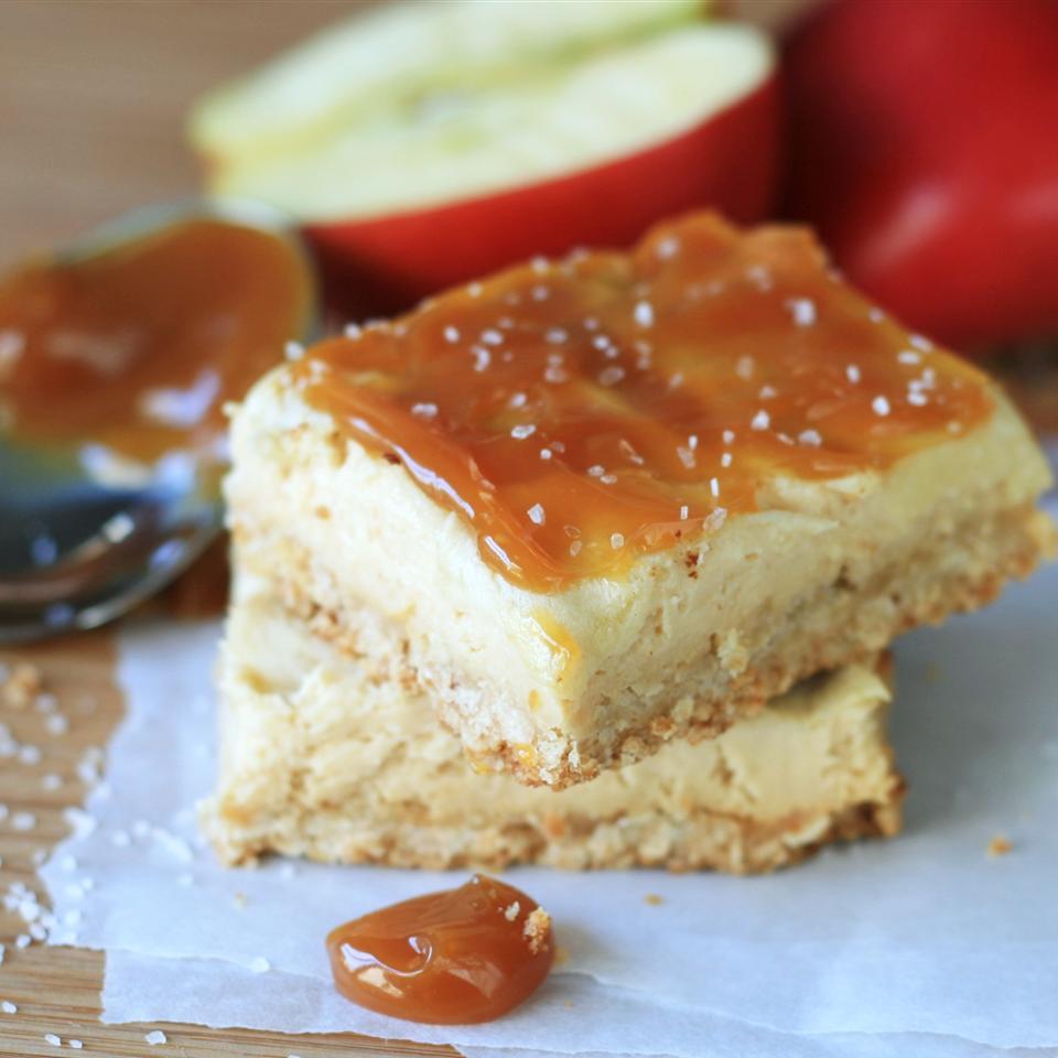 Apple Caramel Cheesecake Bars France C