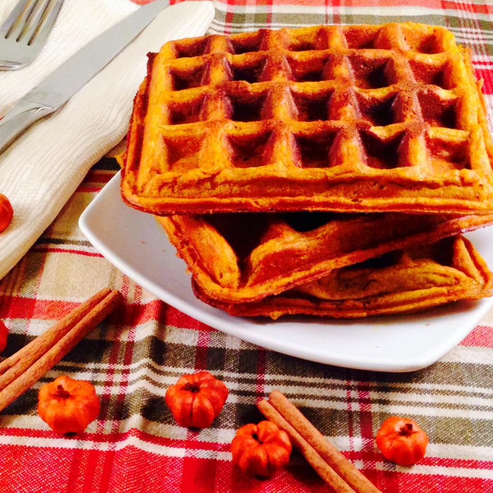 Perfect Pumpkin Spice Waffles Abbey
