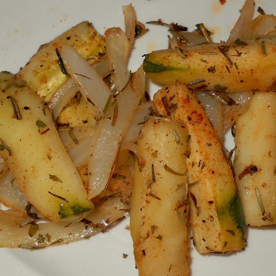 Roasted Cucumbers and Onions with Fresh Herbs ONIOND