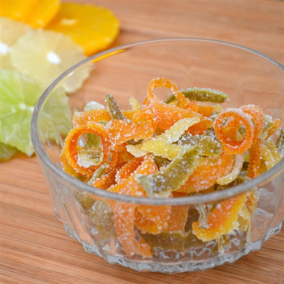 Sweet Candied Orange and Lemon Peel