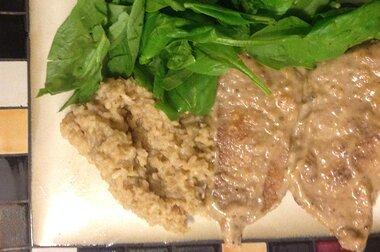skillet chops with mushroom gravy recipe
