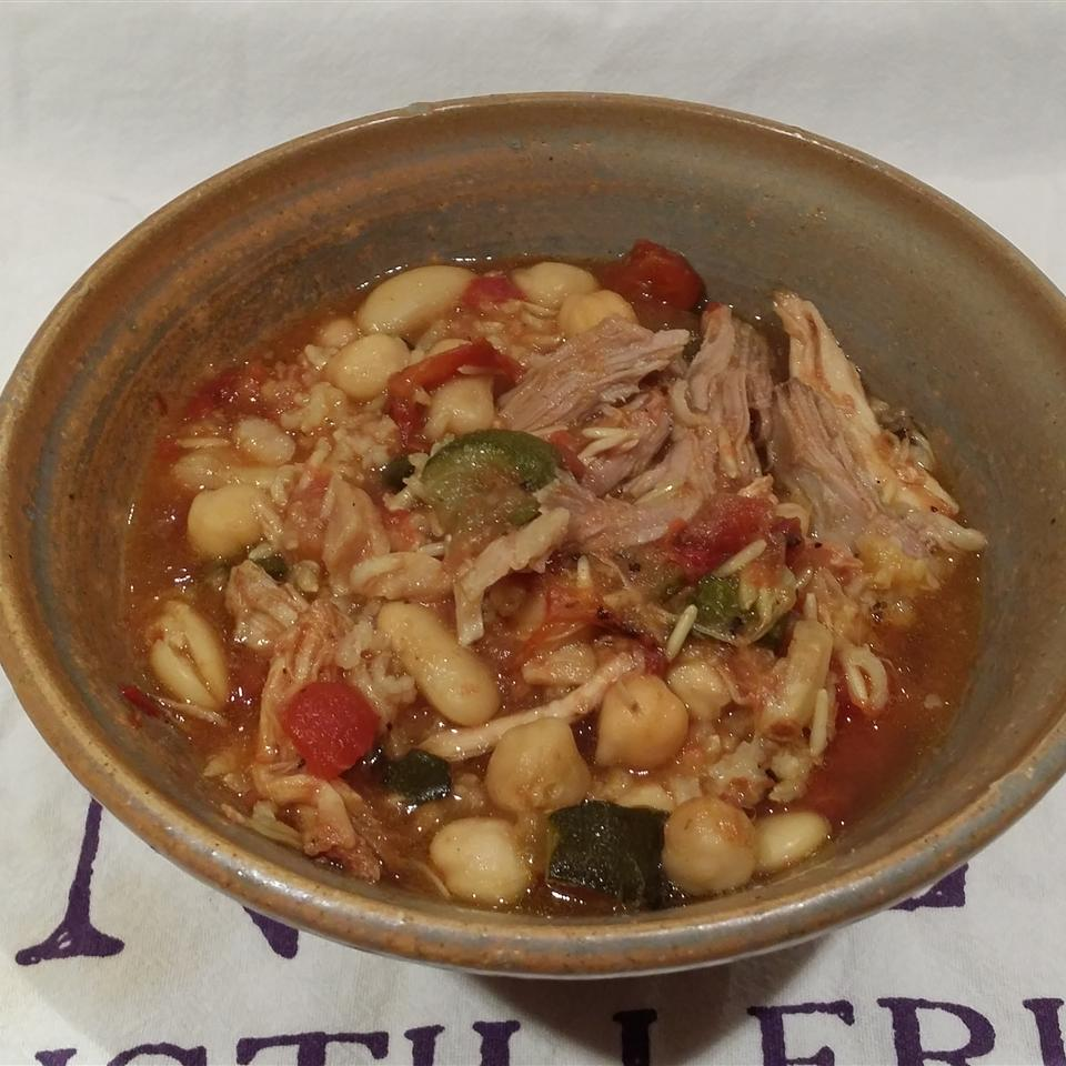 A Crock of Curried Pork Soup