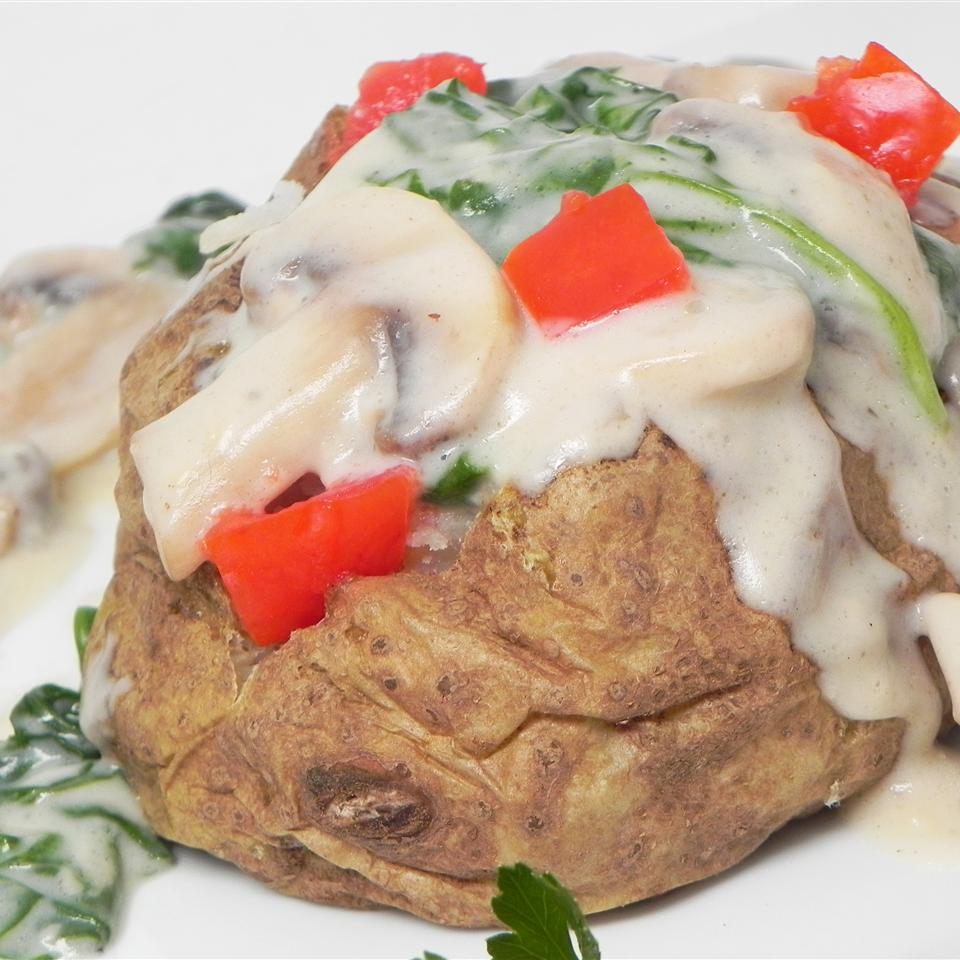 Stuffed Alfredo Baked Potatoes
