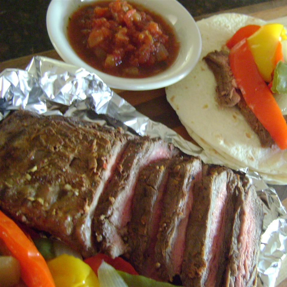 Easy Flank Steak Fajitas