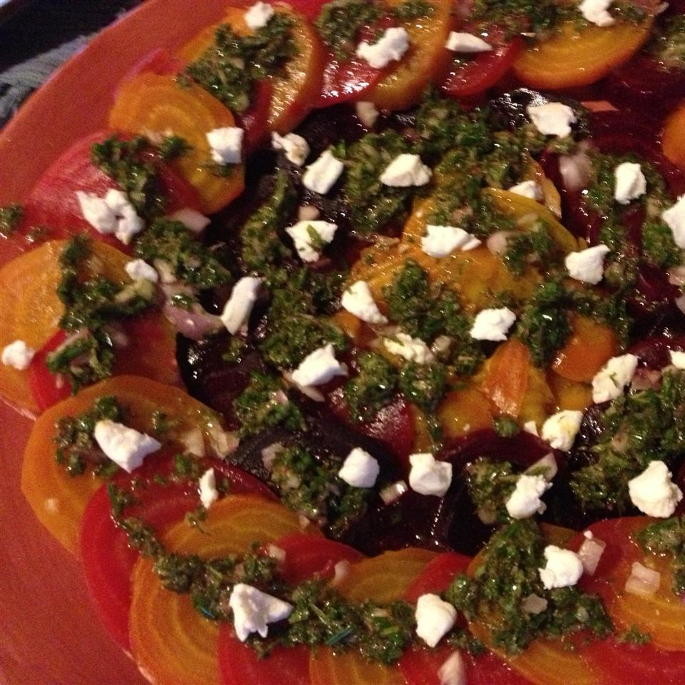 Beet Carpaccio with Mint Vinaigrette