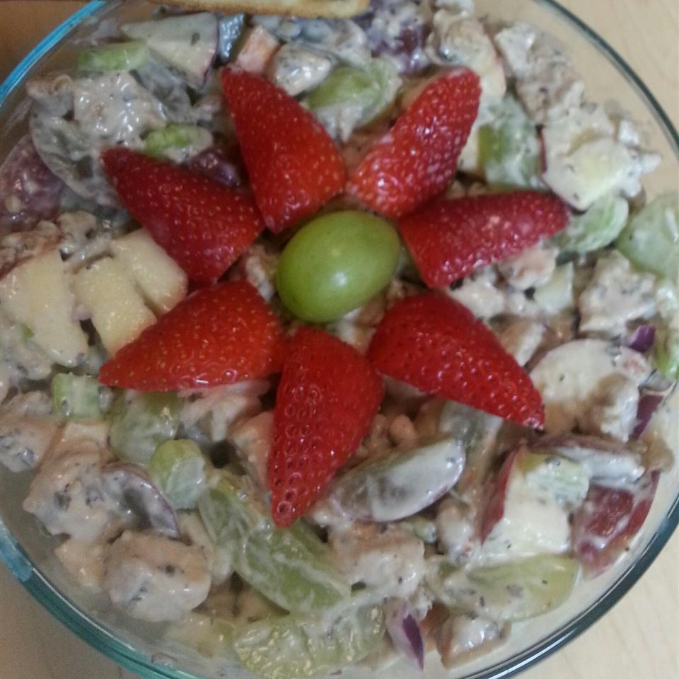 Chicken Salad with Apples, Grapes, and Walnuts sillywendy