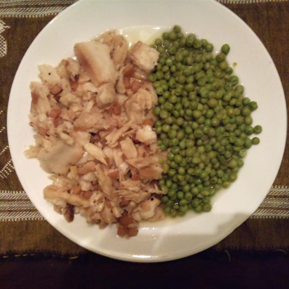 Fish and Brewis with Scruncheons