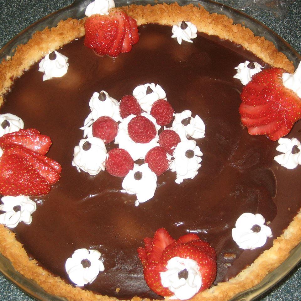 Pecan Crusted Chocolate Truffle Pie