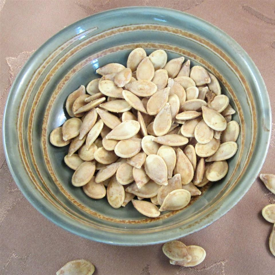 Spicy Roasted Pumpkin Seeds Deb C