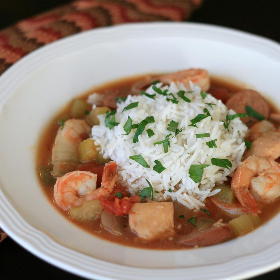 Slow Cooker Chicken Gumbo with Shrimp France C
